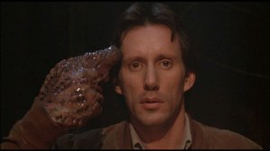 James Woods í Videodrome eftir David Cronenberg.