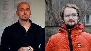 Ólafur Jóhannesson leikstjóri og Óttar Norðfjörð rithöfundur.