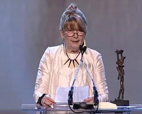 Kristín Jóhannesdóttir tekur við heiðursverðlaunum ÍKSA 2013.
