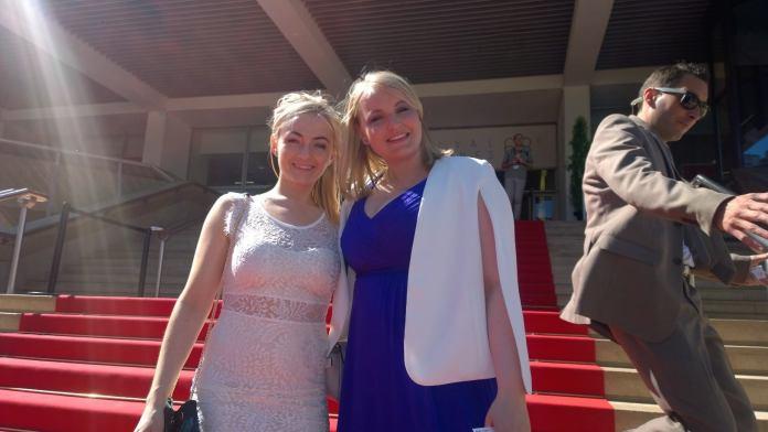 Anna Sæunn Ólafsdóttir og Eva Sigurðardóttir á rauða teppinu í Cannes þann 16. maí s.l.