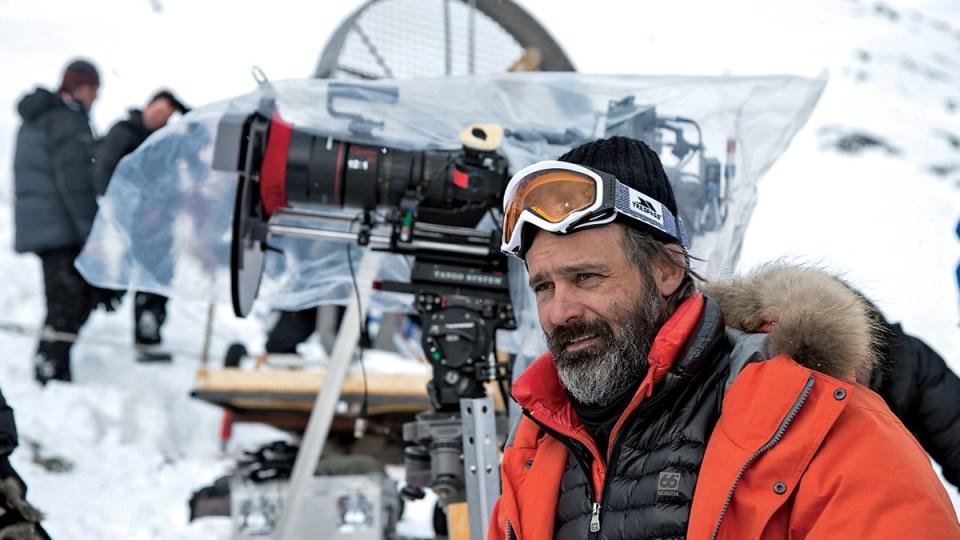 Baltasar Kormákur við tökur á Everest. (Mynd: Universal Pictures).