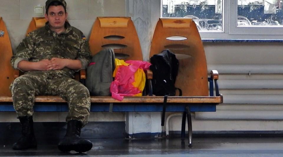 SOLDIER in TRAINSTATION