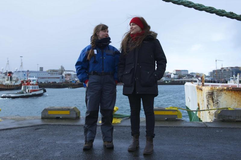 Hulda Rós Guðnadóttir og Helga Rakel Rafnsdóttir.