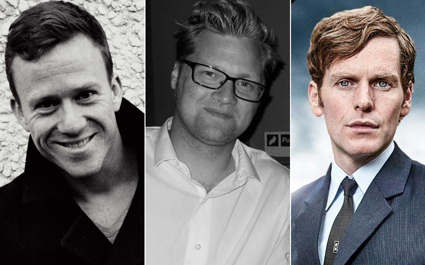 Börkur Sigþórsson, G. Magní Ágústsson og breski leikarinn Shaun Evans í hlutverki Endeavor Morse.