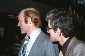 Kosningar 1978: Ómar Ragnarsson og Helgi E. Helgason fréttamenn.