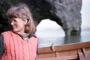 Tökur á þættinum Þjóðlífi 1981: Sigrún Stefánsdóttir umsjónarmaður.