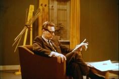 Kjeld Larsen, leiðbeinandi íslensku sjónvarpsstarfsmannanna, DR 1966