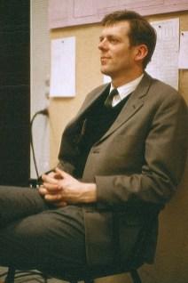 Otto Jonasen, leiðbeinandi íslensku sjónvarpsstarfsmannana. DR 1966