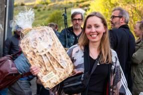Kristín Andrea Þórðardóttir stjórnandi hátíðarinnar með Einarinn.