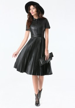 bebe-blk-faux-leather-pleated-dress-product-3-193890805-normal