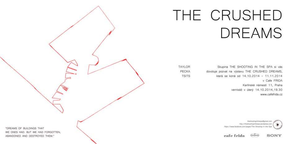 pozvánka výstavy The Crushed dreams