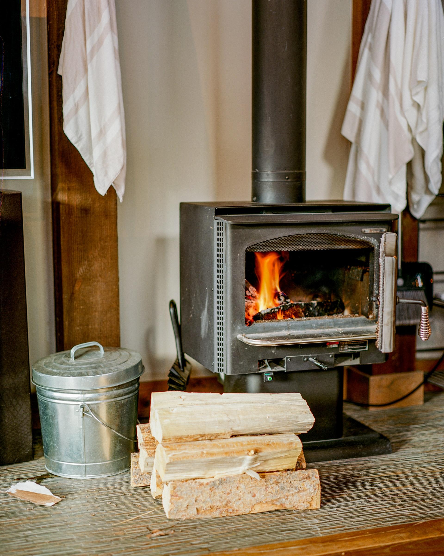 Värme till stuga utan el