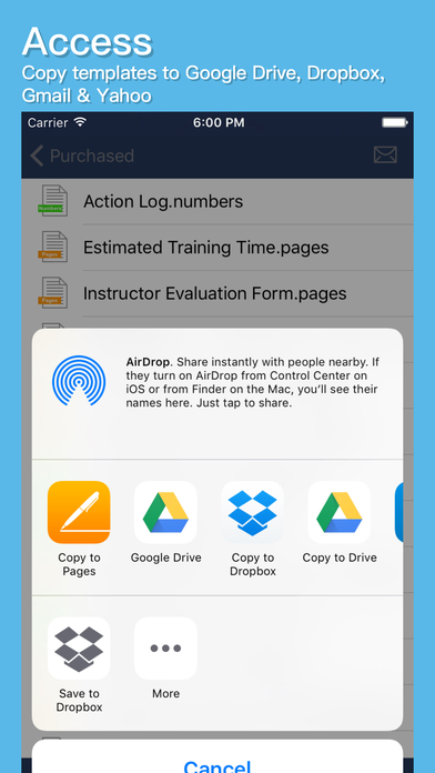 klariti-template-store-app-document-access