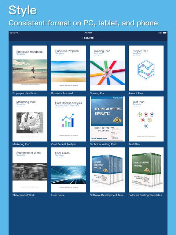 klariti-template-store-app-ipad-templates