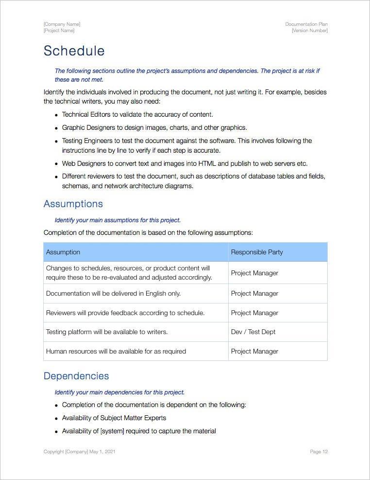Documentation-Plan-Template-Apple-iWork-Pages-schedule