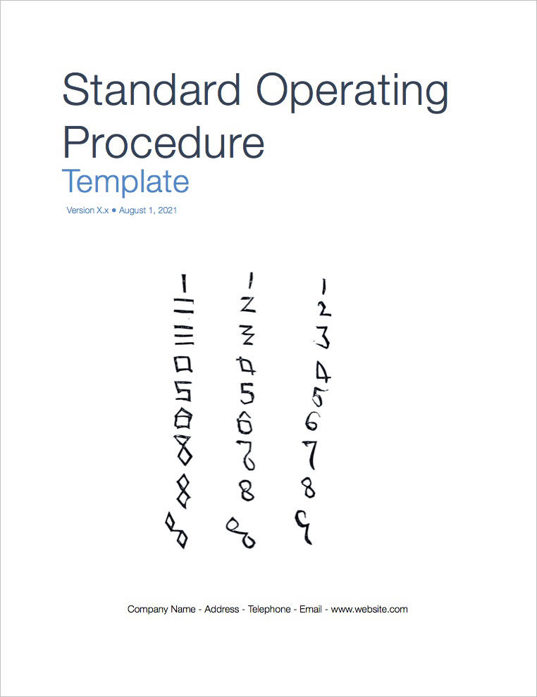 Standard Operating Procedure Sop Templates Apple Iwork PagesNumbers