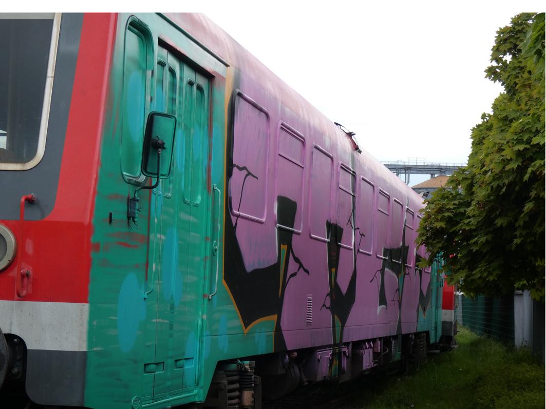 Massiver Sprayer-Angriff auf Ausflugs-Triebwagen