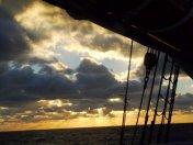 Sonnenuntergang am Ausgang des Englischen Kanals