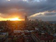 Auch der letzte Sonnenuntergang über havannas Dächern ließ sich sehen...