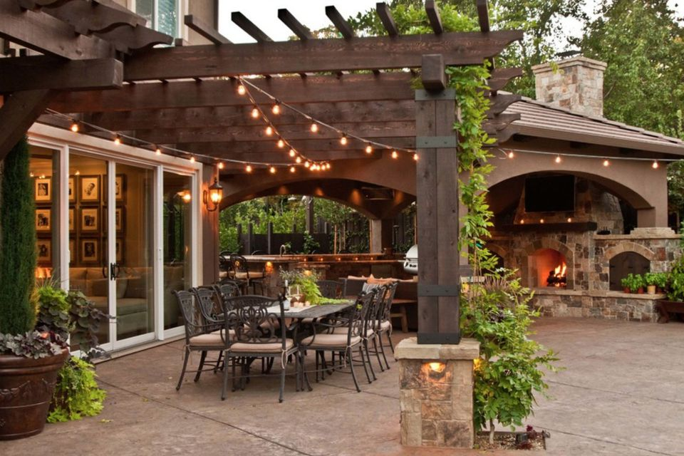 need to decorate your open patio on