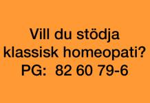 Stöd klassisk homeopati