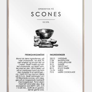Scones opskrift - Kage guide plakat
