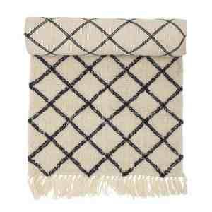 BLOOMINGVILLE gulvløber - natur uld/bomuld, rektangulær (200x70)