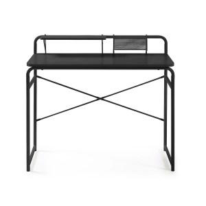 LAFORMA rektangulær Foreman skrivebord - sort melamin og metal (98x48)