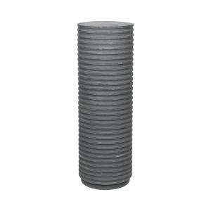 BROSTE COPENHAGEN rund Rillo piedestal - grå fibercement (Ø36)