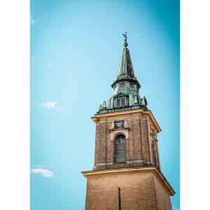 BOBO X BRANDT A Aalborg plakat af Ansgars kirke (flere størrelser) 100x70