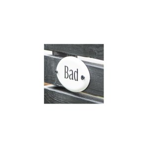 "Metalskilt ""Bad"" - Ib Laursen"