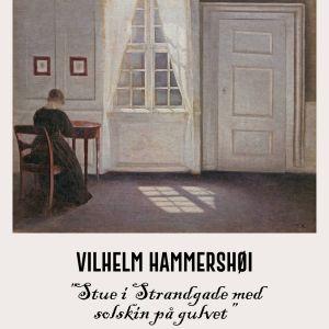 Stue i strandgade med solskin på gulvet - Vilhelm Hammershøi Kunstplakat