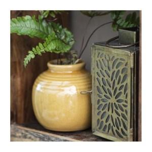 Vase mini m/ riller X krakeleret glasur - Ib Laursen