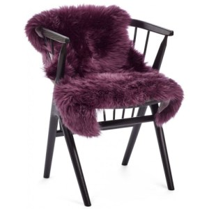 Natures Collection long wool Lammeskind - aubergine