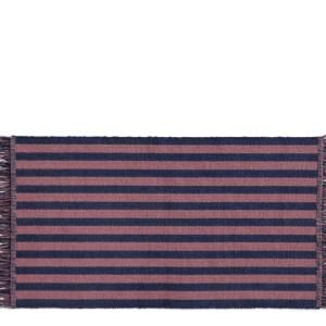 HAY Stripes And Stripes Dørmåtte - Navy Cacao