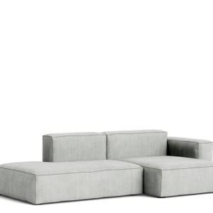 HAY Mags Soft Sofa - Low Arm - 2.5P. Combi 3 - Random Fade Light Grey