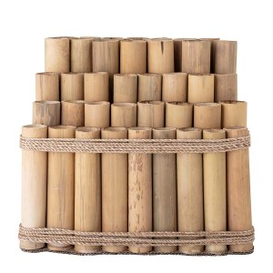 BLOOMINGVILLE Koko dekoration, rektangulær - natur bambus og sisal rør (44x30)