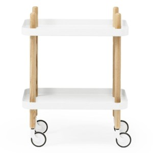 Normann Copenhagen Block Table White - Oak