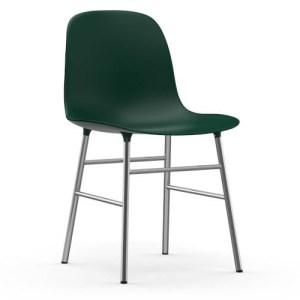 Normann Copenhagen Form stol Grøn Krom