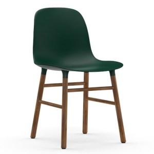Normann Copenhagen Form stol Grøn Valnød
