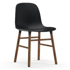 Normann Copenhagen Form stol Sort Valnød