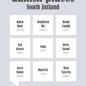 Danish places - South Jutland Plakat