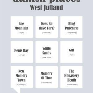 Danish places - West Jutland Plakat