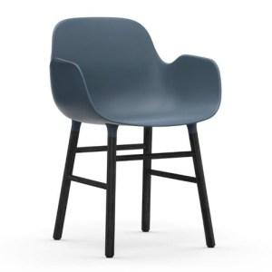Normann Copenhagen Form Armchair Blue Sortbejds Eg