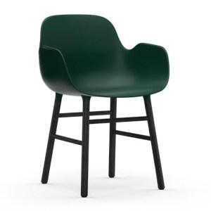 Normann Copenhagen Form Armchair Green Sortbejds Eg