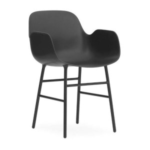 Normann Copenhagen Form Armchair Sort - Stålben