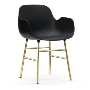 Normann Copenhagen Form Armchair Sort - messingben