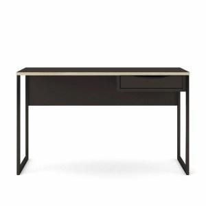 TVILUM Function Plus skrivebord, m. skuffe - sort folie og sort stål (130x48,4)
