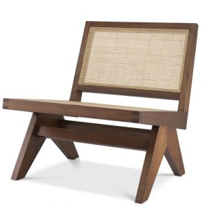 Eichholtz Chair Romee - Classic Brown - Rattan Cane Webbing