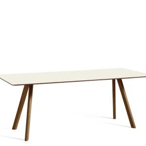 HAY CPH30 Table - 200x90cm - Valnød - Off White Linolium